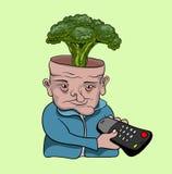 TV addict. Creative concept vector art Stock Photos