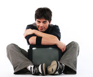 TV addict concept Stock Photography