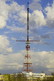 TV aerial in the city of Grodno stock photo