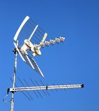 TV aerial for reception of TV channels Stock Image
