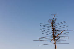 TV aerial on a rooftop Stock Photography
