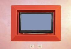 TV alla parete Fotografie Stock