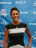 TV anchor Robin Roberts at the red carpet before US Open 2013 opening night ceremony Royalty Free Stock Image