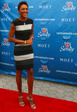 TV anchor Robin Roberts at the red carpet before US Open 2013 opening night ceremony at USTA National Tennis Center Stock Photography