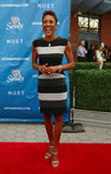 TV anchor Robin Roberts at the red carpet before US Open 2013 opening night ceremony at USTA National Tennis Center Royalty Free Stock Image