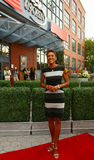 TV anchor Robin Roberts at the red carpet before US Open 2013 opening night ceremony at USTA National Tennis Center Royalty Free Stock Photos