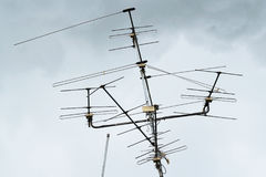 TV antena Fotografia Stock