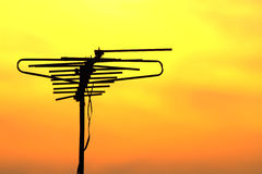 Tv antenna. Looking beautiful with colour background Royalty Free Stock Images