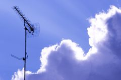 Tv antenna Stock Photography