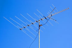 TV Antenna. Against blue sky Royalty Free Stock Photos