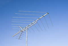Tv antenna. Old style analog tv antenna Stock Image
