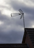 TV antenna or aerial on cloudy day Royalty Free Stock Photography