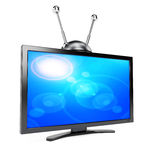 TV with antenna Royalty Free Stock Image