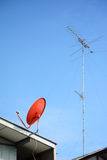 Tv antenna Stock Photos