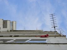 TV antenna, Tirana, Albania stock images