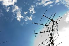 TV antennas Royalty Free Stock Photo