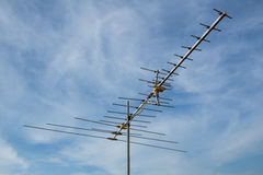 TV antennas. In Blue sky Stock Image