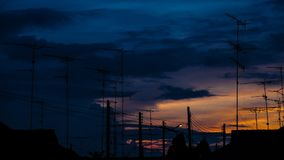 TV-antenne stock footage