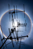TV-antenne en de halo Royalty-vrije Stock Foto's