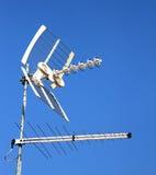 TV-antenne voor ontvangst van TV-kanalen Stock Afbeelding