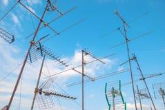 TV-antennes royalty-vrije stock afbeelding