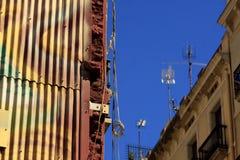 TV-antennes op dak Royalty-vrije Stock Afbeeldingen