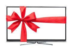 Tv as a present Stock Images