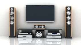 TV and audio electronics and alpha channel stock video footage