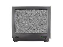 TV avec l'écran blanc Photo stock