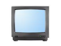 TV avec l'écran blanc Photos stock