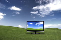 TV avec les colores grands Image libre de droits