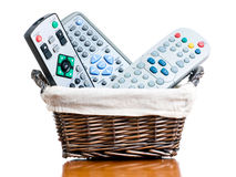 Tv Basket Stock Image