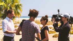 TV-bemanning op reeks royalty-vrije stock foto