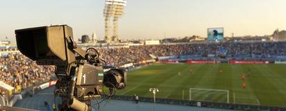 TV bij het voetbal. Royalty-vrije Stock Afbeelding