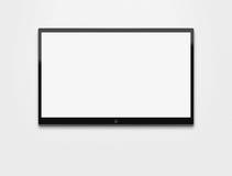 TV blanc au mur Image libre de droits