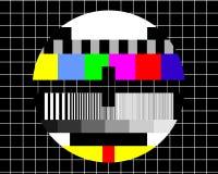 TV blanc - testez l'écran Images stock