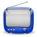 TV bleue Image libre de droits