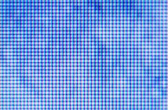 TV blue screen. Abstract blur background. Micro photo of TV screen with visible dots royalty free stock image