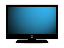 TV Blue Screen Royalty Free Stock Photography