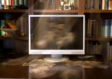 TV and books Stock Image