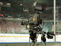 TV broadcast hockey Royalty Free Stock Photo