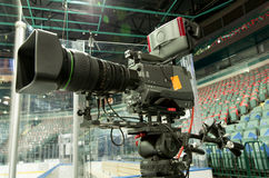 TV broadcast hockey, Stock Photography