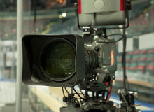 TV broadcast hockey, Royalty Free Stock Photography