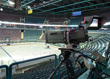TV broadcast hockey, Stock Photo