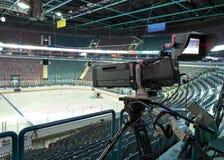 TV broadcast hockey, Stock Photo