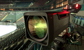TV broadcast hockey, Stock Image