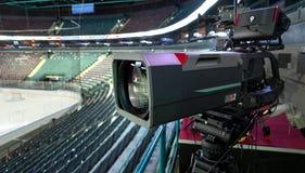 TV broadcast hockey, Stock Photos