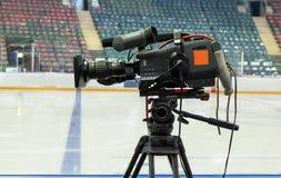 TV broadcast hockey, Royalty Free Stock Images
