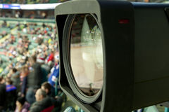 TV broadcast hockey Stock Images