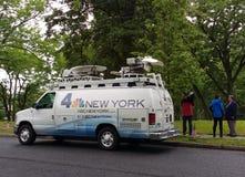 TV Broadcast News Van, NBC 4 New York, USA stock photos